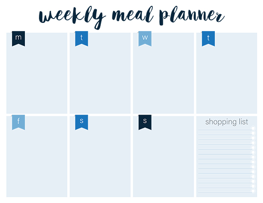 shopping list meal planner