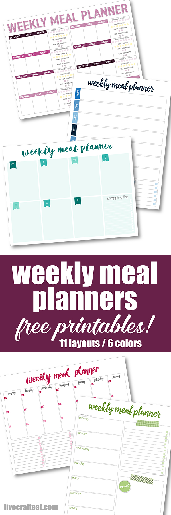 weekly meal planner pinterest image