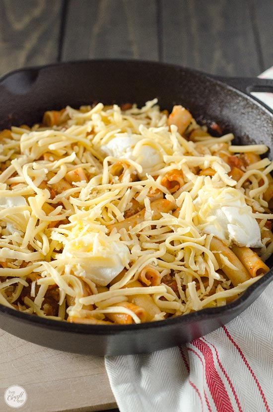 ricotta and gouda baked ziti
