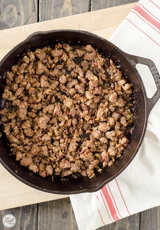 browned italian sausage