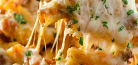 five-cheese baked ziti with italian sausage