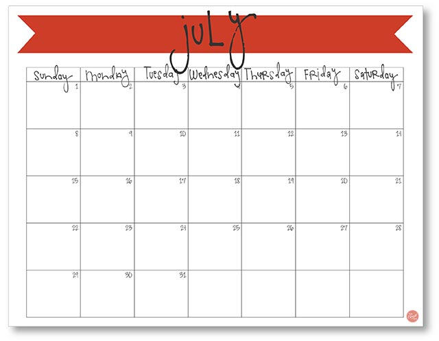 image relating to Printable July Calendar titled July 2018 Calendar - Absolutely free Printable Stay Craft Take in