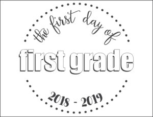 first day school sign circles first grade
