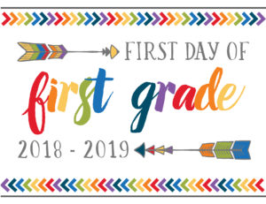 first day of school printables boho first grade