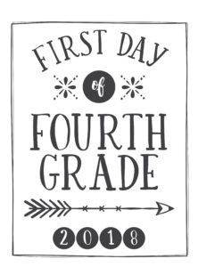 First Day Of School Printables Free 21 Layouts Of Pre K 6th