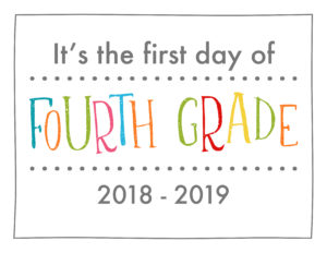 back to school sign rainbow colors fourth grade
