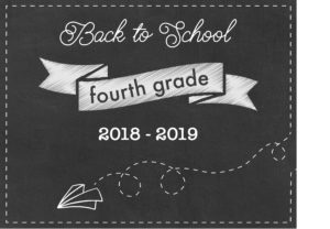 fourth grade school chalkboard sign printables
