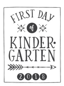first day printable arrow and circle kindergarten