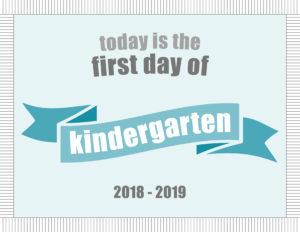 printable school signs ribbon banner kindergarten