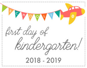 first day sign airplane kindergarten