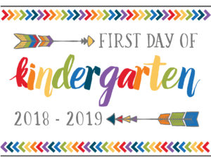 first day of school printables boho kindergarten