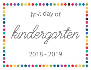 free printable school signs rainbow dots kindergarten