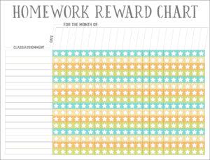Homework Reward Charts Free Printables Live Craft Eat
