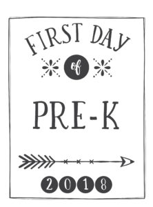 first day printable arrow and circle pre-k