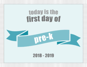 printable school signs ribbon banner pre-k