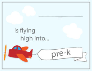 airplane school sign pre-k