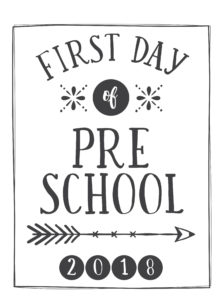 first day printable arrow and circle preschool