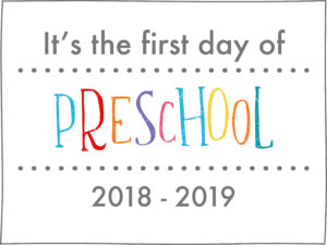 back to school sign rainbow colors preschool