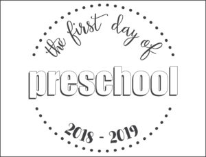first day school sign circles preschool