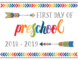 first day of school printables boho preschool