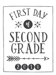 first day printable arrow and circle second grade