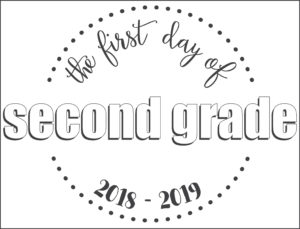 first day school sign circles second grade