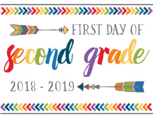 first day of school printables boho second grade