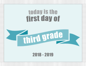 printable school signs ribbon banner third grade