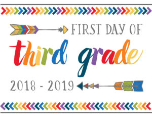 first day of school printables boho third grade