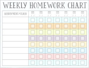 photo relating to Printable Homework Chart identified as Research (Benefit) Charts - Cost-free Printables Reside Craft Try to eat