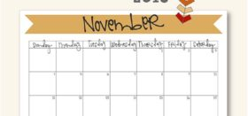 Free printable monthly calendar :: November 2018