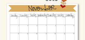 free printable calendar 2018 (November)