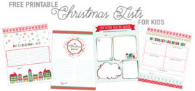 Free Printable Christmas Wish Lists for Kids