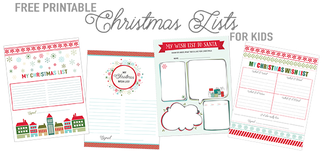Printable Christmas Wish List For Kids.Printable Christmas List Templates Live Craft Eat