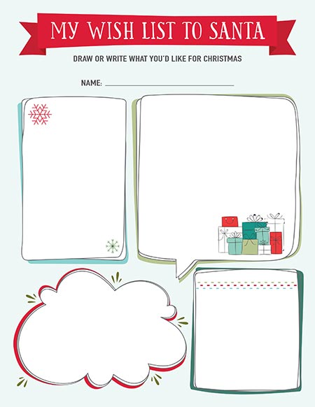 photo regarding Printable Wish Lists named Printable Xmas Checklist Templates Stay Craft Consume