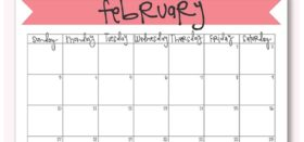 Free Printable Monthly Calendar :: February 2019