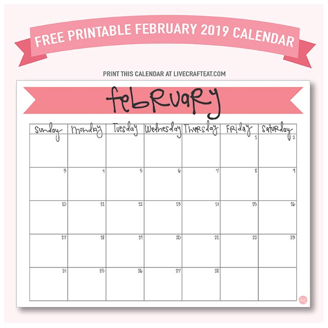 photo about Calendar February Printable identify February 2019 Calendar - Free of charge Printable Stay Craft Consume