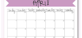 Free Printable Monthly Calendar :: April 2019