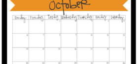 Free Printable Monthly Calendar :: October 2019