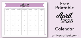 Free Printable Monthly Calendar :: April 2020