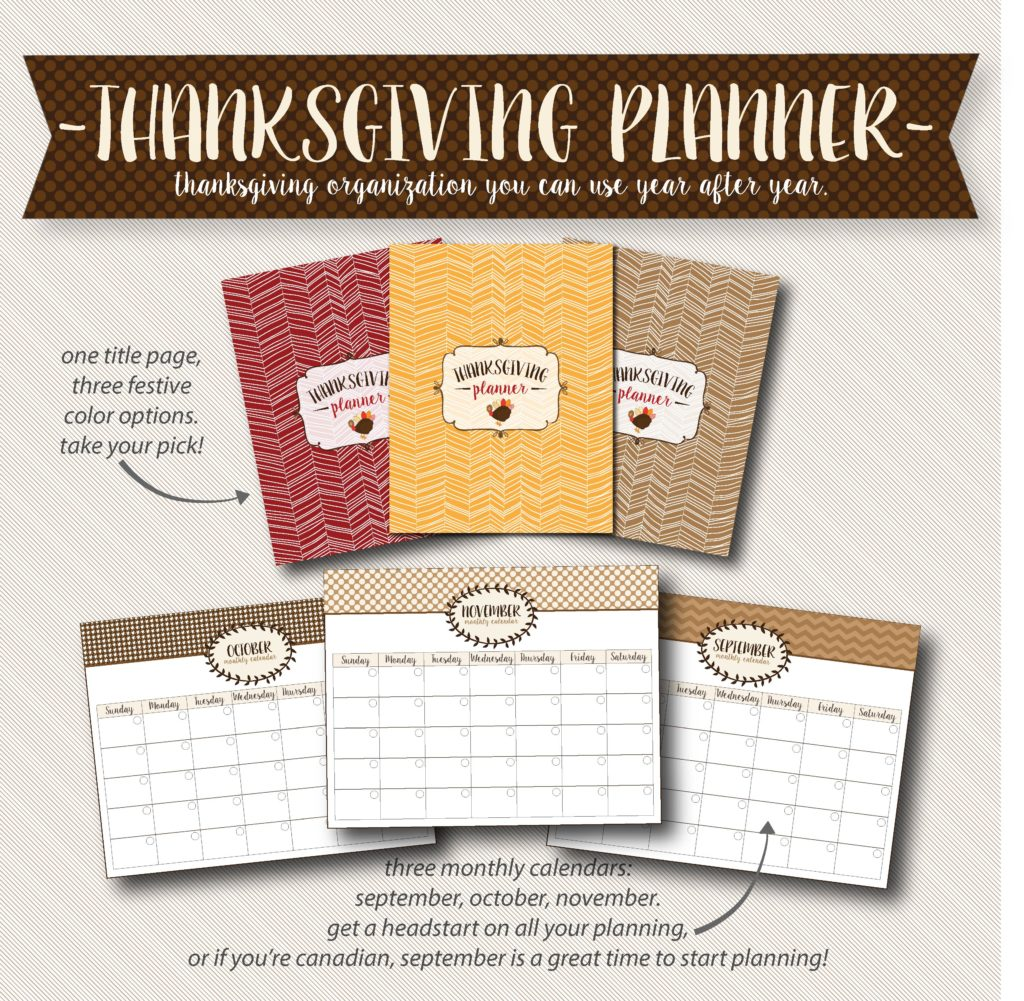 Free Thanksgiving calendar pages