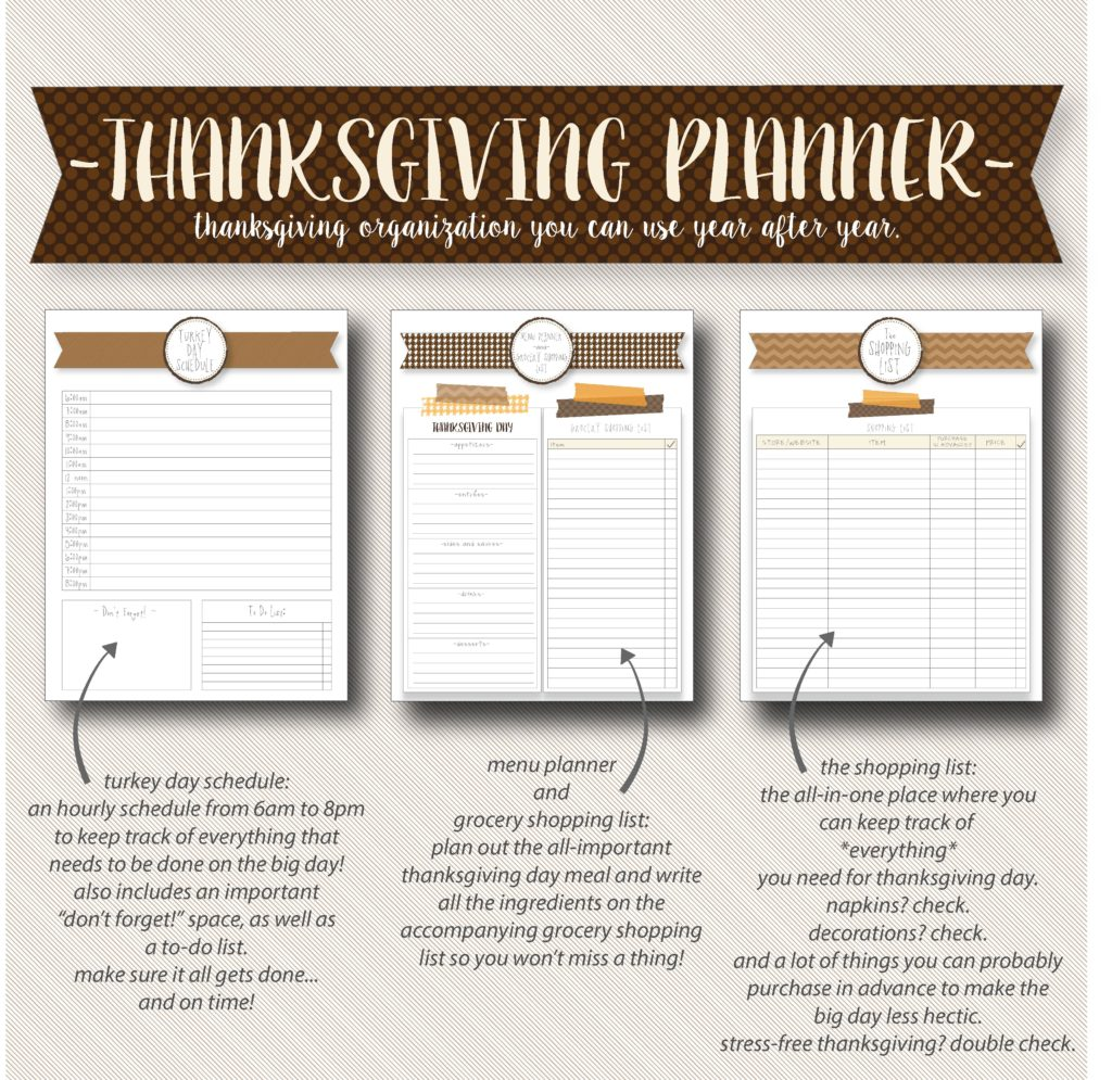 Thanksgiving planner pages