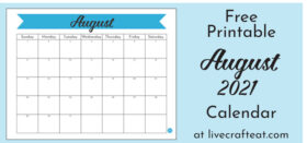 Free Printable Monthly Calendar :: August 2021