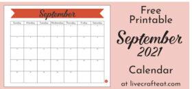 Free Printable Monthly Calendar :: September 2021