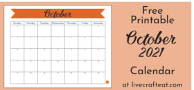 Free Printable Monthly Calendar :: October 2021